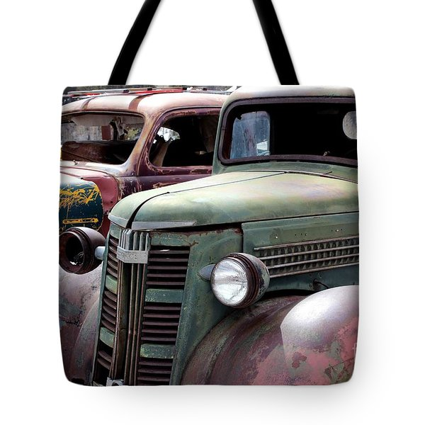Tote Bag featuring the photograph Vintage by Fiona Kennard