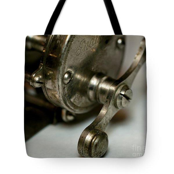 Vintage Fishing Reel  Tote Bag by Wilma  Birdwell