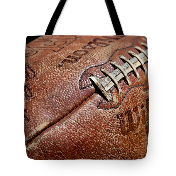 Tote Bag featuring the photograph Vintage Football by Art Block Collections
