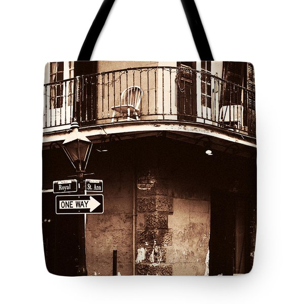 Vintage French Quarter Tote Bag by John Rizzuto