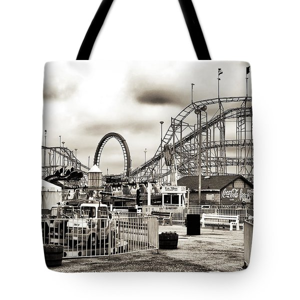 Vintage Funtown Tote Bag by John Rizzuto