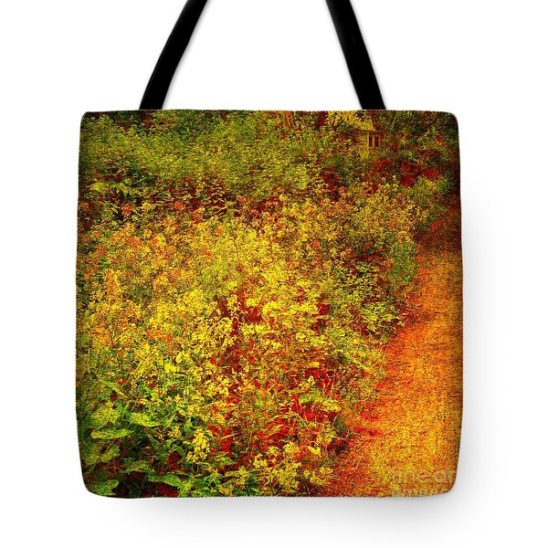 Tote Bag featuring the photograph Vintage Garden Path by Terri Gostola