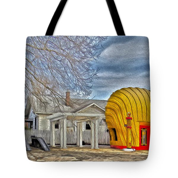 Days Of Yesterday Gas Station Tote Bag