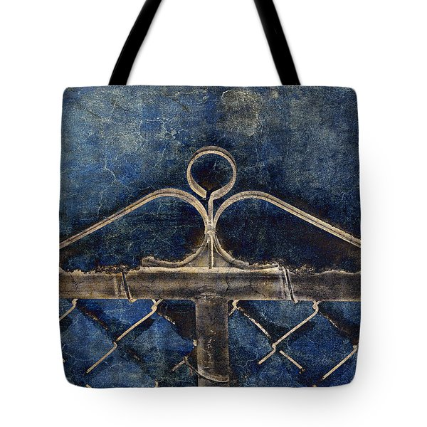 Vintage Gate - Fence - Chain Link - Texture - Abstract Tote Bag by Andee Design