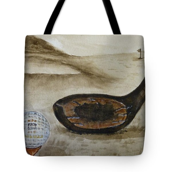 Vintage Golfing In The Early 1900s Tote Bag by Kelly Mills