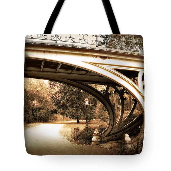 Vintage Gothic Bridge Tote Bag