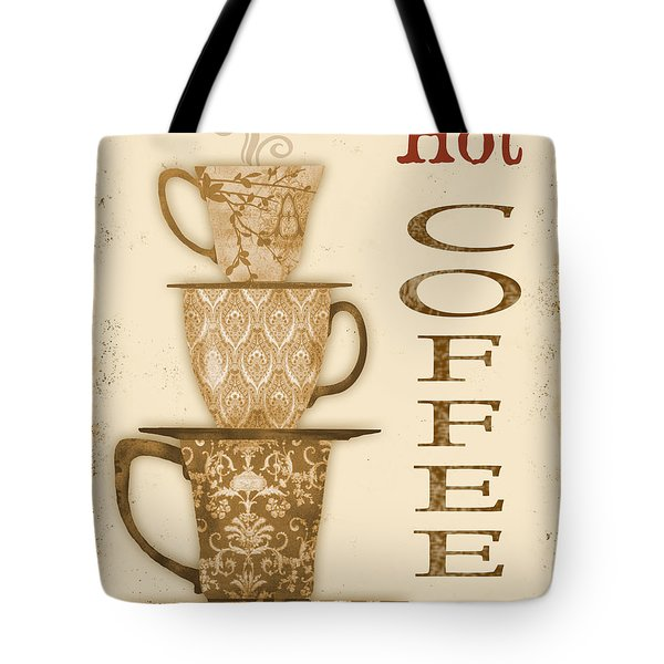 Vintage Hot Coffee Sign Tote Bag by Jean Plout