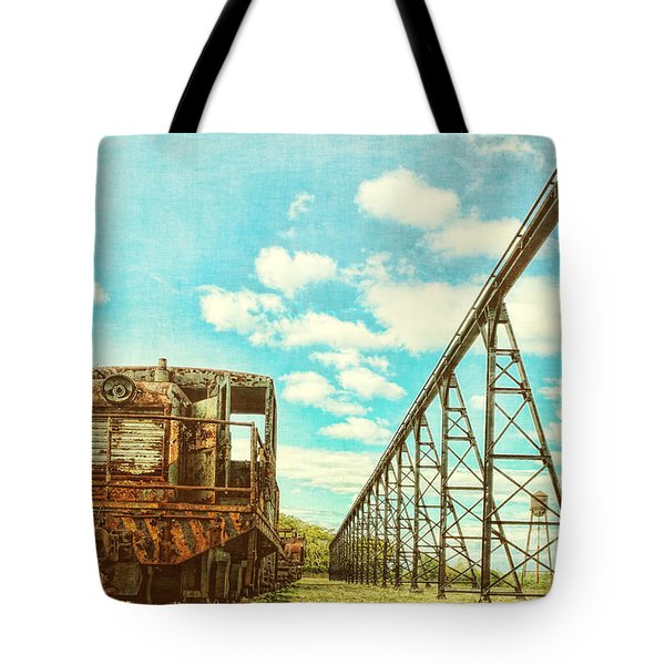 Vintage Industrial Postcard Tote Bag