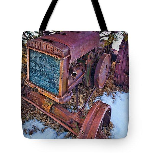 Vintage John Deere Tote Bag by Inge Johnsson