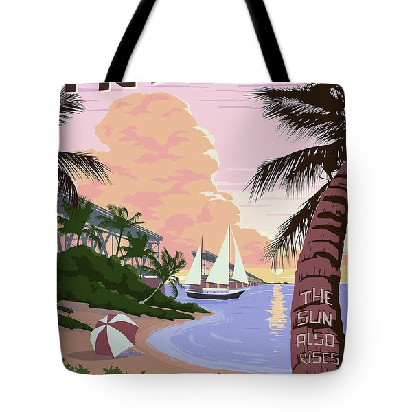 Vintage Key West Travel Poster Tote Bag