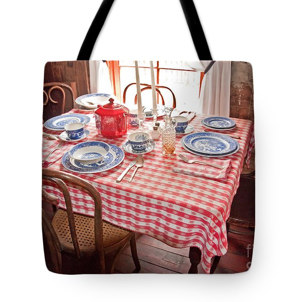 Vintage Kitchen Table Art Prints Tote Bag