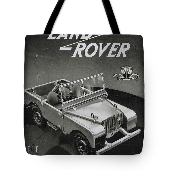 Vintage Land Rover Advert Tote Bag