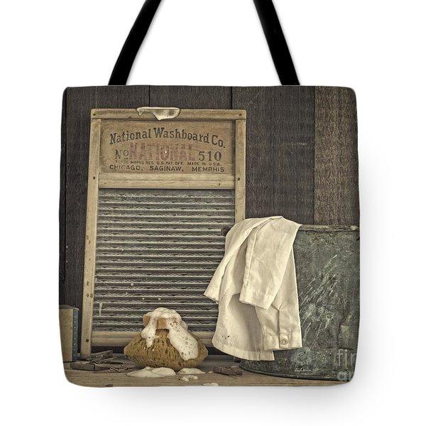 Vintage Laundry Room II By Edward M Fielding Tote Bag by Edward Fielding