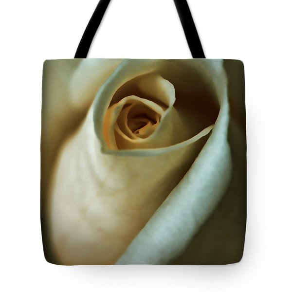 Vintage Macro Rose Flower Tote Bag by Jennie Marie Schell