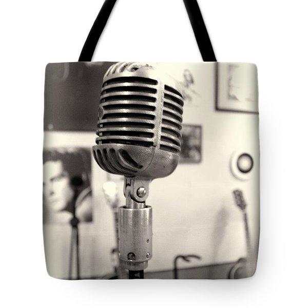 Vintage Microphone Sun Studio Tote Bag