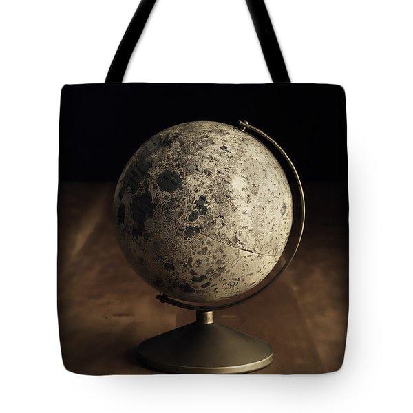 Vintage Moon Globe Tote Bag