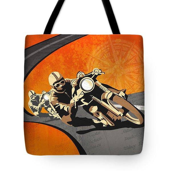 Vintage Motor Racing  Tote Bag by Sassan Filsoof