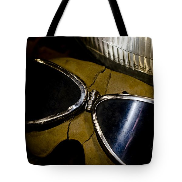 Vintage Motorcycle Goggles Tote Bag by Wilma  Birdwell