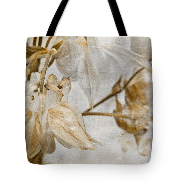 Tote Bag featuring the photograph Vintage Neutral Flowers by Peggy Collins