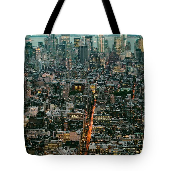 Vintage New York Skyline Tote Bag