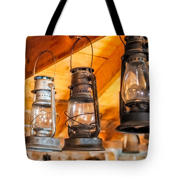 Vintage Oil Lanterns Tote Bag