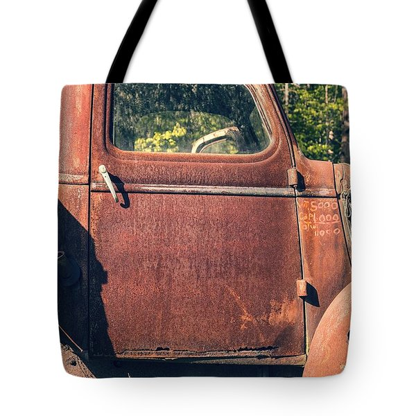 Vintage Old Rusty Truck Tote Bag by Edward Fielding