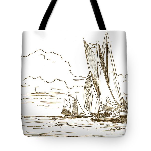 Vintage Oyster Schooners  Tote Bag