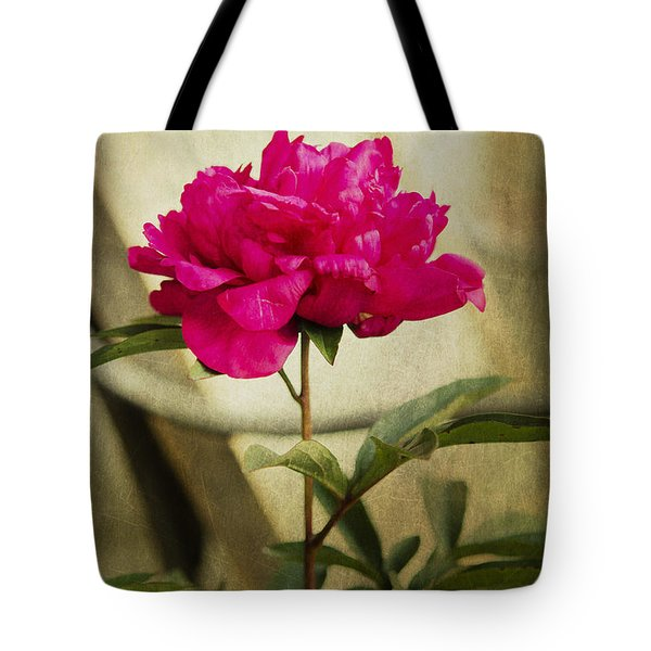 Tote Bag featuring the photograph Vintage Peony by MaryJane Armstrong