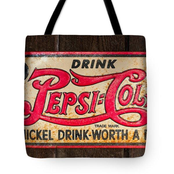 Vintage Pepsi Cola Ad Tote Bag