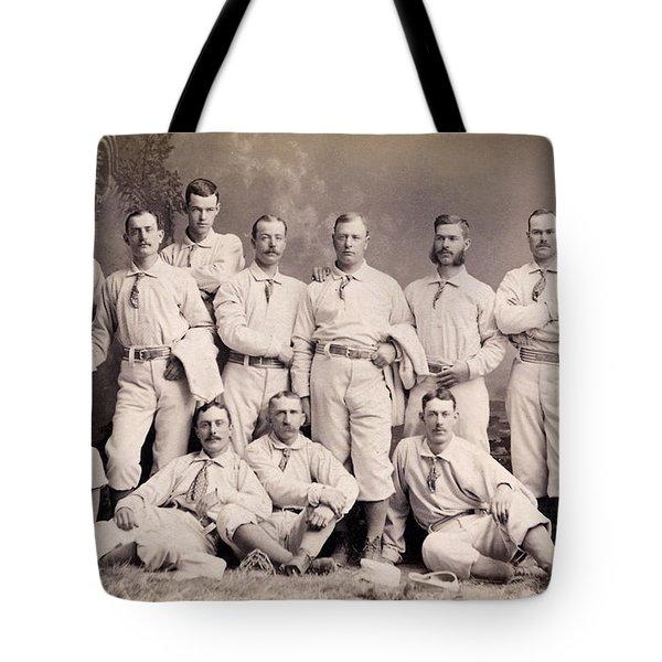 New York Metropolitans Baseball Team Of 1882 Tote Bag