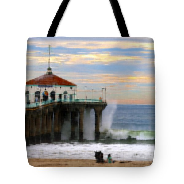 Vintage Pier Tote Bag by Joe Schofield