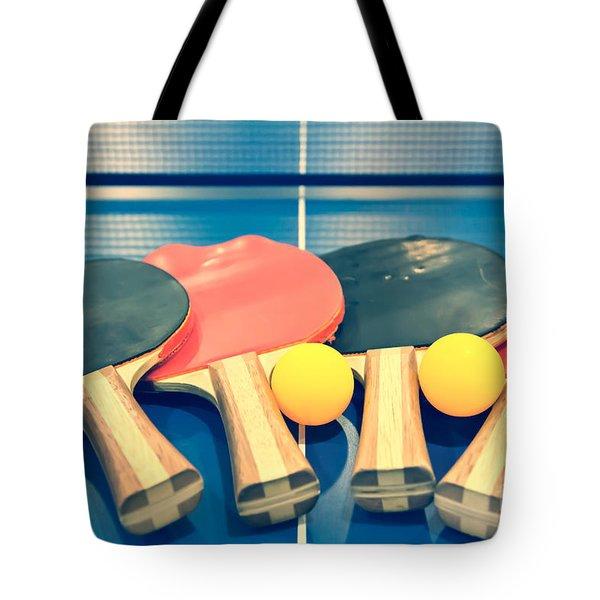 Vintage Ping-pong Bats Table Tennis Paddles Rackets Tote Bag