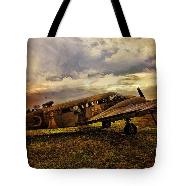 Vintage Plane Tote Bag by Evie Carrier