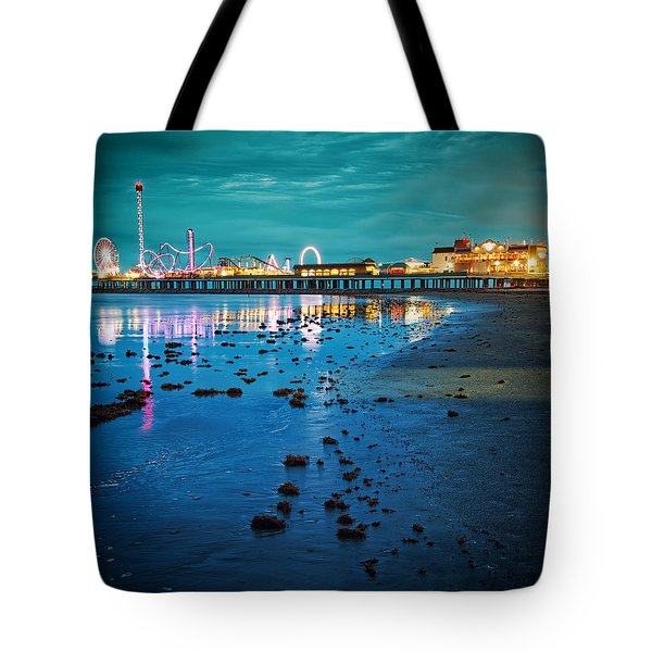 Vintage Pleasure Pier - Gulf Coast Galveston Texas Tote Bag