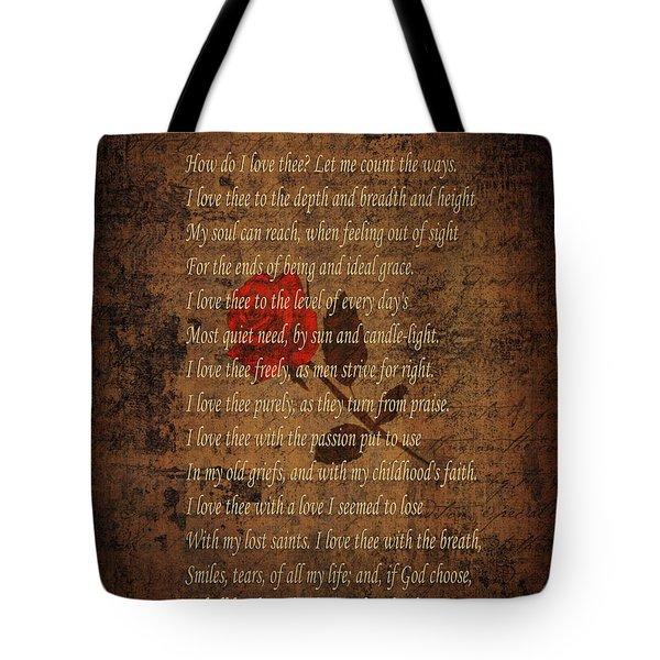 Vintage Poem 4 Tote Bag