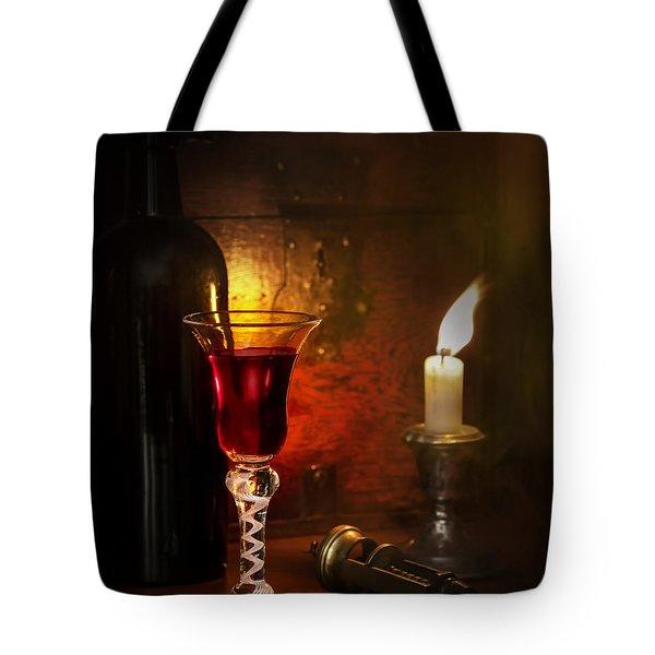 Vintage Port Tote Bag by Amanda Elwell