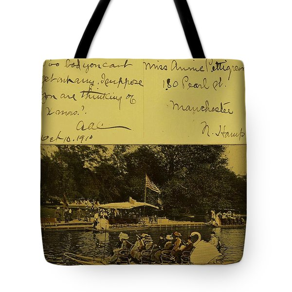 Vintage Postcard  October 10 1910 Tote Bag