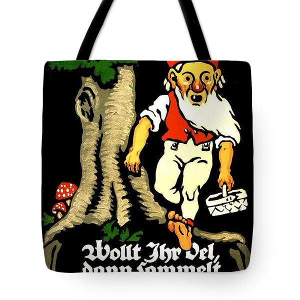 Vintage Poster - Germany - Beech Nuts Tote Bag