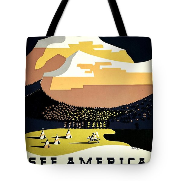 Vintage Poster - Montana Tote Bag by Benjamin Yeager