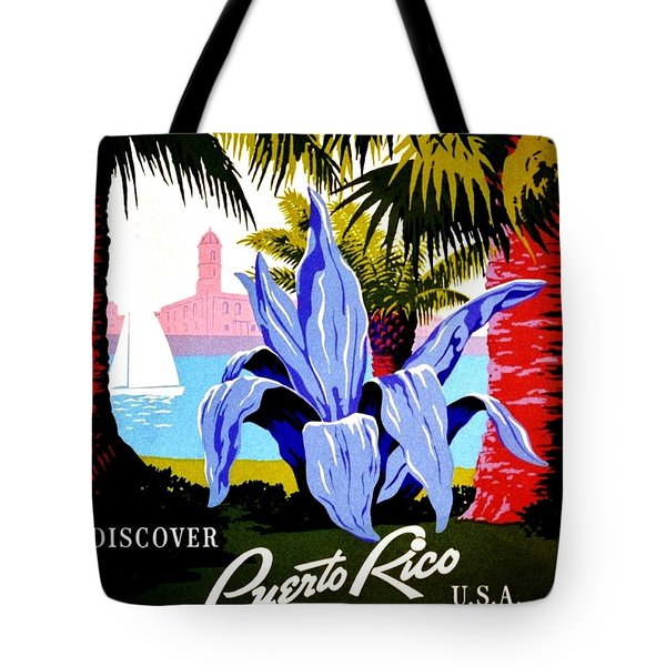 Vintage Poster - Puerto Rico Tote Bag by Benjamin Yeager