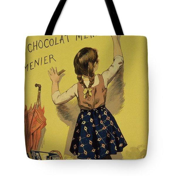 Vintage Poster Advertising Chocolate Tote Bag