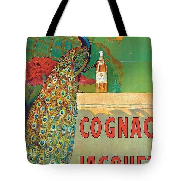 Vintage Poster Advertising Cognac Tote Bag