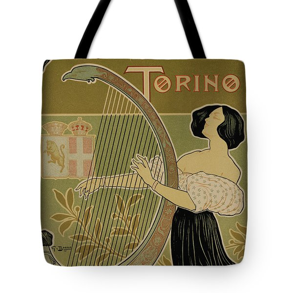 Vintage Poster Advertising The Theater Royal Turin Tote Bag by Italian School