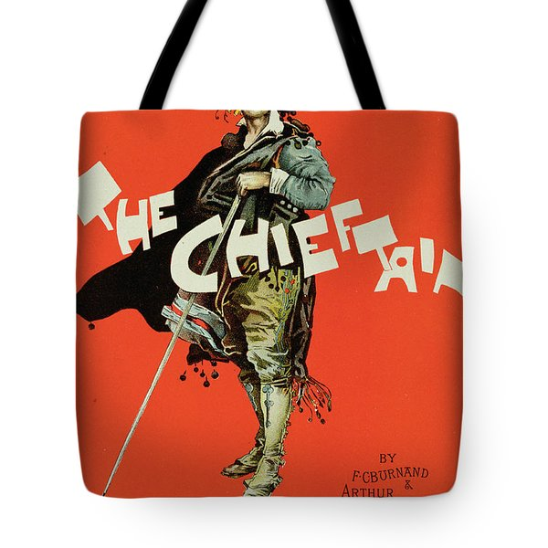 Vintage Poster For The Chieftain At The Savoy Tote Bag by Dudley Hardy