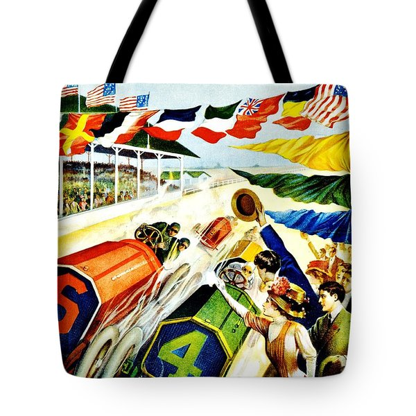 Vintage Poster - Sports - Indy 500 Tote Bag