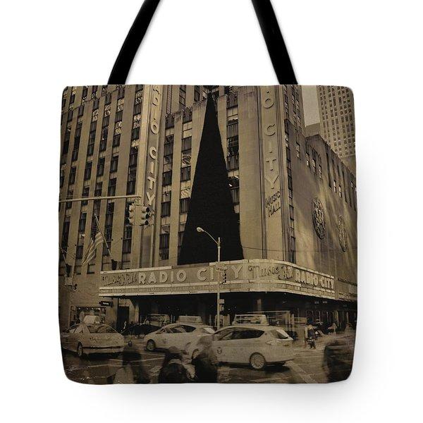 Vintage Radio City Music Hall Tote Bag by Dan Sproul