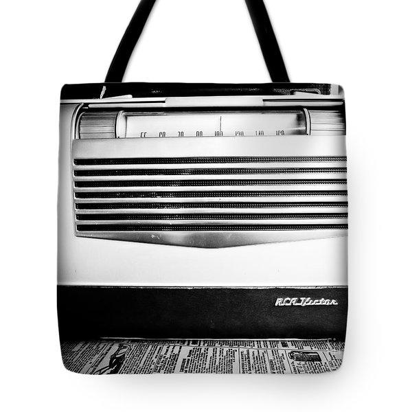 Vintage Radio Tote Bag by Edward Fielding