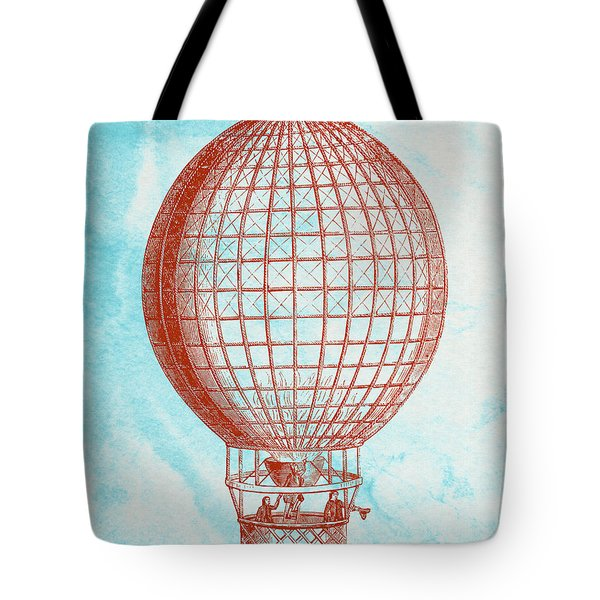 Vintage Red Hot-air Balloon Tote Bag