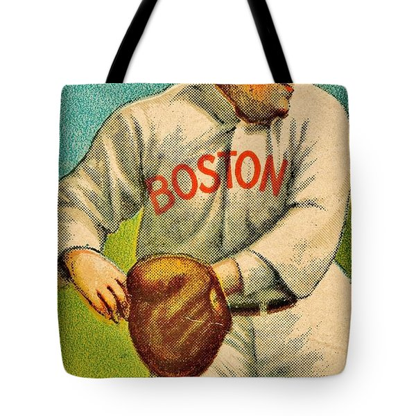 Vintage Red Sox Tote Bag by Benjamin Yeager