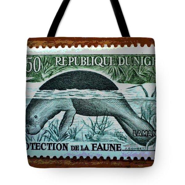 Vintage Republic Of Niger Stamp Tote Bag